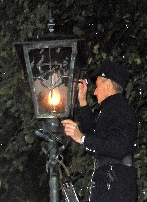 Lamplighter - The lamplighter in Brest, Belarus (October 15, 2011).