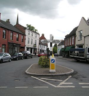 Brewood - The Market Place in 2011.