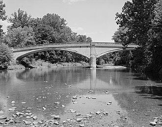 Bridge between Monroe and Penn Townships - Southern side of the original bridge