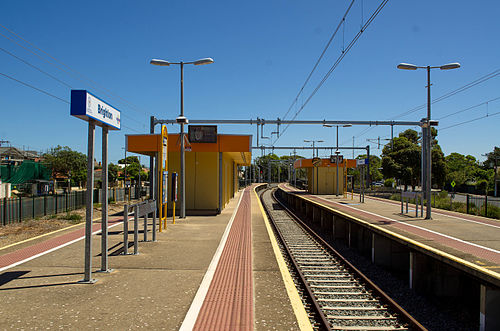 Centre turnback platform at Brighton railway station, Adelaide (photo by Normangerman via Wikimedia Commons)