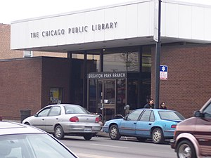 Brighton Park, Chicago - Brighton Park branch of the Chicago Public Library.