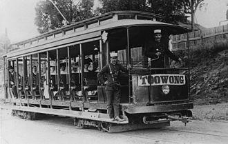 Toowong - Tram at the Toowong tram terminus c. 1910