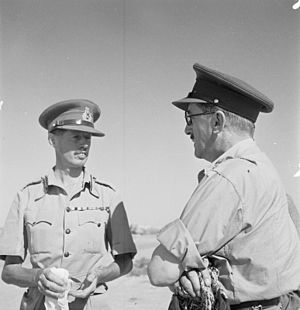 Eric Dorman-Smith - Eric Dorman-Smith (left) talking with General Sir Alan Brooke at El Alamein, Egypt, August 1942.