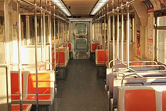 Broad Street Line - Interior of a Broad St. Line train