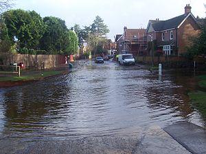 Brockenhurst - The ford at Brockenhurst, following heavy rain.