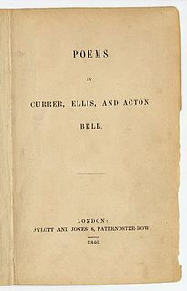 <i>Poems by Currer, Ellis, and Acton Bell</i>