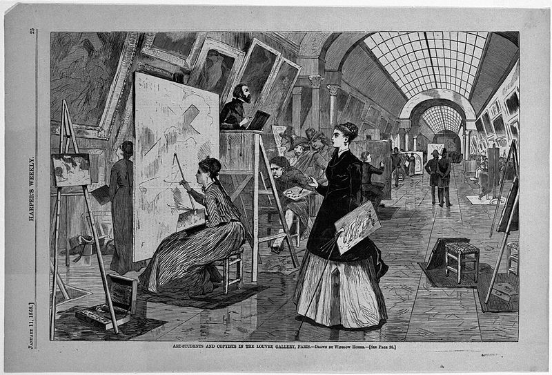 File:Brooklyn Museum - Art-Students and Copyists in the Louvre Gallery, Paris - Winslow Homer - overall.jpg
