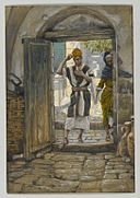 Brooklyn Museum - On Entering the House, Salute It (En entrant la maison salue-la) - James Tissot - overall.jpg