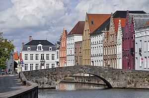 Bruges (Belgium): the Koningsbrug (King's brid...