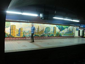 Lavalle (Buenos Aires Underground) - Image: Buenos Aires Subte Lavalle 1
