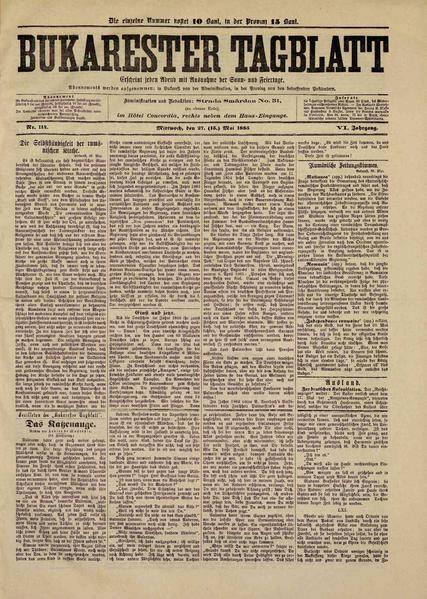 File:Bukarester Tagblatt 1885-05-27, nr. 114.pdf
