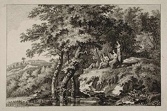 Salomon Gessner - Gessner, Bucolic scenery 1767