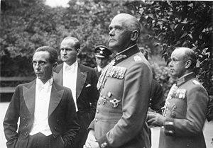 Werner von Blomberg - Blomberg with Joseph Goebbels, 1937