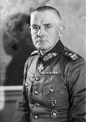 Werner von Blomberg - Image: Bundesarchiv Bild 183 W0402 504, Generaloberst Werner von Blomberg