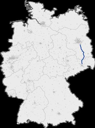 Bundesautobahn 13 - Image: Bundesautobahn 13 map