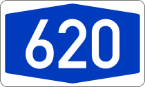 Bundesautobahn 620 number.svg