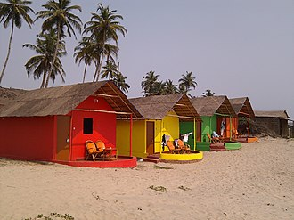 Mandrem - Image: Bungalows for rent, discounts for colorblind panoramio