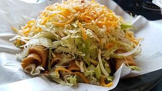 Taquito Mexican food dish