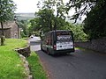 Bus arrives in Downham - geograph.org.uk - 2527500.jpg