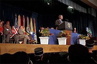 Thomas Sprigg Wootton High School - President George W. Bush speaks at Wootton.