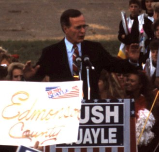 1988 United States presidential election in Kentucky - George H. W. Bush campaigning in Owensboro, Kentucky