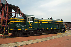 ALCO RS-3 - A former Central Railroad of New Jersey ALCO RS-3 at Steamtown National Historic Site