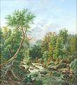 COLLECTIE TROPENMUSEUM Olieverfschilderij voorstellende de rivier de Brantas bij Malang TMnr H-3291.jpg