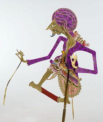 Kyai - Wayang figure of Kyai Maja, a Javanese religious leader and follower of Prince Diponegoro in his rebellion against the Dutch in Java War.