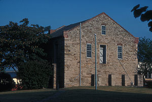 Fort Smith National Historic Site - Image: COMMISSARY BUILDING IN FT. SMITH