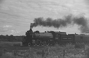CPR Angus Shops - Image: CP1201 Steam Engine