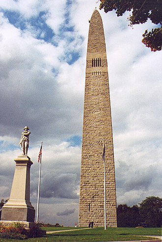 Battle of Bennington - The Bennington Battle Monument in Bennington, Vermont