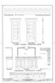 Cabin Doors-Shelter Deck; Credenza-Captain's Cabin - Ship BALCLUTHA, 2905 Hyde Street Pier, San Francisco, San Francisco County, CA HAER CAL,38-SANFRA,200- (sheet 68 of 69).png