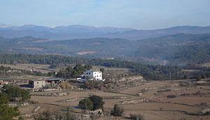 Sant Feliu Sasserra - Cal Nons as seen from Les Cases Noves