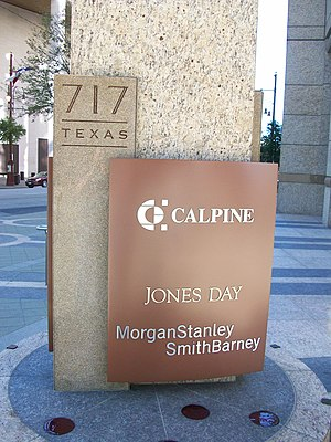 Calpine Center - Street sign detail