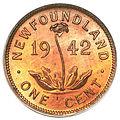 Canada Newfoundland George VI Cent 1942 (rev).jpg