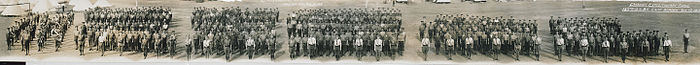 Canadian Expeditionary Force, 129th O.S. Battalion, Camp Borden, August 10, 1916 (HS85-10-32559)