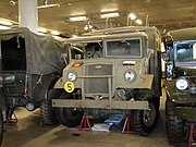 Canadian Military Pattern truck with driver side windsheld open