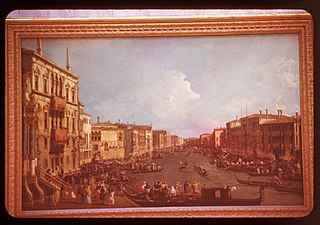 View on the Grand Canal from the Palazzo Balbi to the Bridge of Rialto, during a Regatta