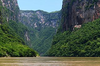 Sumidero Canyon lake in Mexico