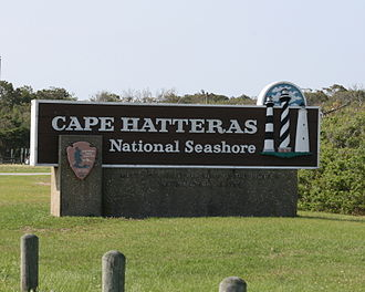 Cape Hatteras National Seashore - Cape Hatteras National Seashore welcome sign