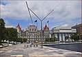 Capitol Building South Side and Empire State Plaza Albany (NY) July 2015 (20336356149).jpg