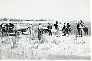 1950s Texas drought - Image: Car towed in Texas 1951 drought