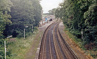 Cark and Cartmel railway station - View in 1986