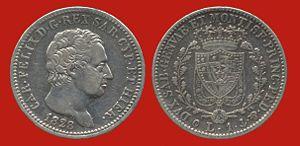 History of coins in Italy - Sardinian 1 lira (1828)