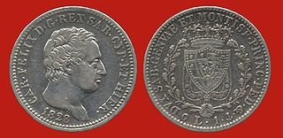 Sardinian lira currency of the Kingdom of Sardinia between August 6, 1816 and March 17, 1861