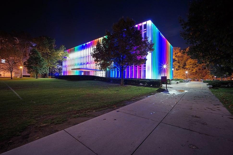 Carnegie Mellon University Hunt Library rainbow