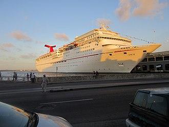 Carnival Paradise - Image: Carnival Paradise docked in Havana, Cuba