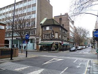 Whitfield Street - The Carpenters Arms pub in Whitfield Street.