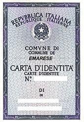 Nouvelle Carte Identite Italienne.Langue Francaise En Vallee D Aoste Wikipedia