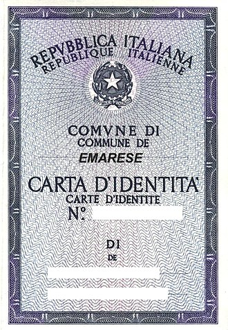 Aostan French - Bilingual Aostan ID.